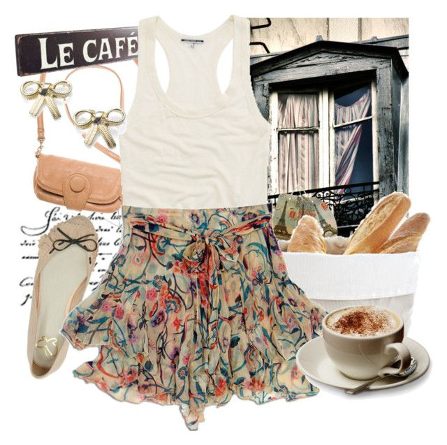 """paris, paris"" by yoasienka ❤ liked on Polyvore featuring Cavallini, CO, James Perse, Monsoon, skirts, bows, edith piaf, floral, james perse and paris"