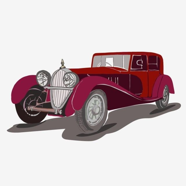 Classic Retro Red Vector Car On A White Background Without Gradients Toy Car Clipart Toy Car White Background Png And Vector With Transparent Background For Retro Vector Car Logo Design