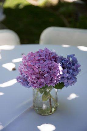 Pin By Heather Fortenbury On Flower Bouquet And Flower Decor Wedding Arch Flowers Purple Hydrangea Centerpieces Hydrangea Flower Arrangements