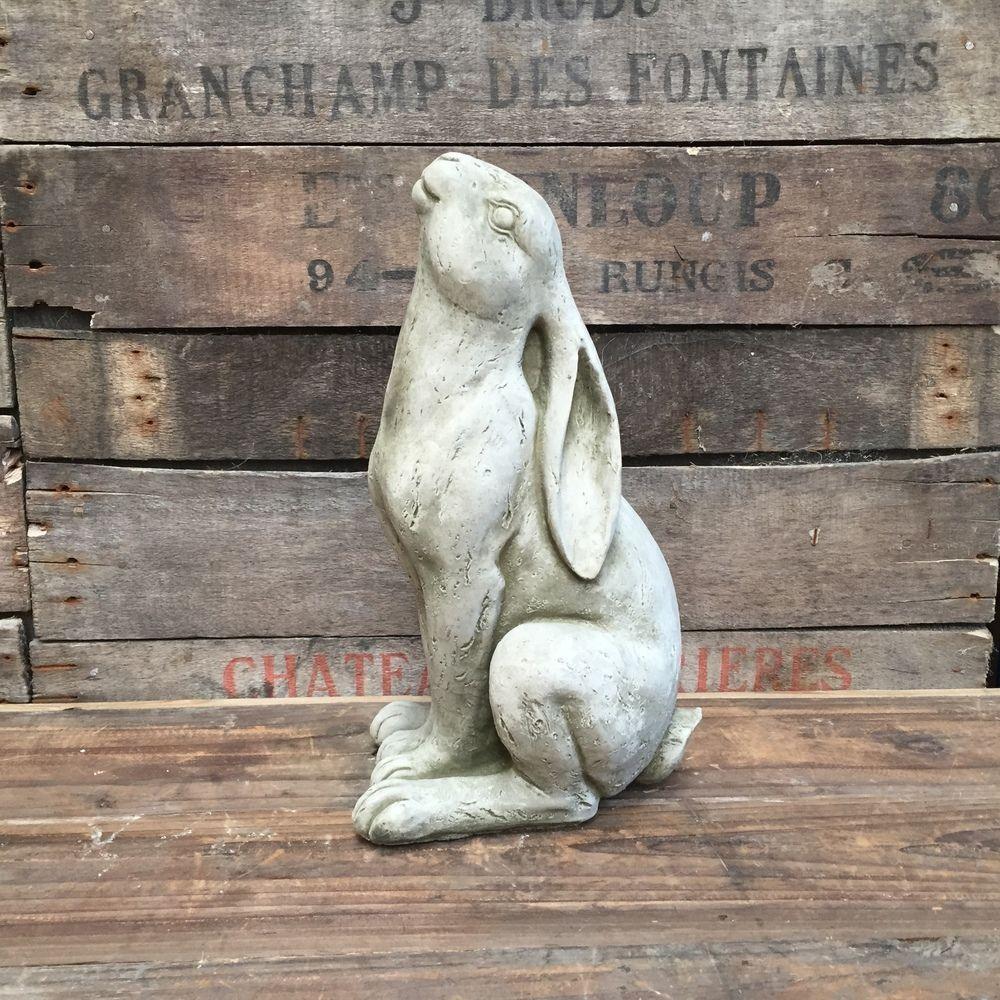 Garden Ornament Statue Large Bronze Moon Gazing Hare