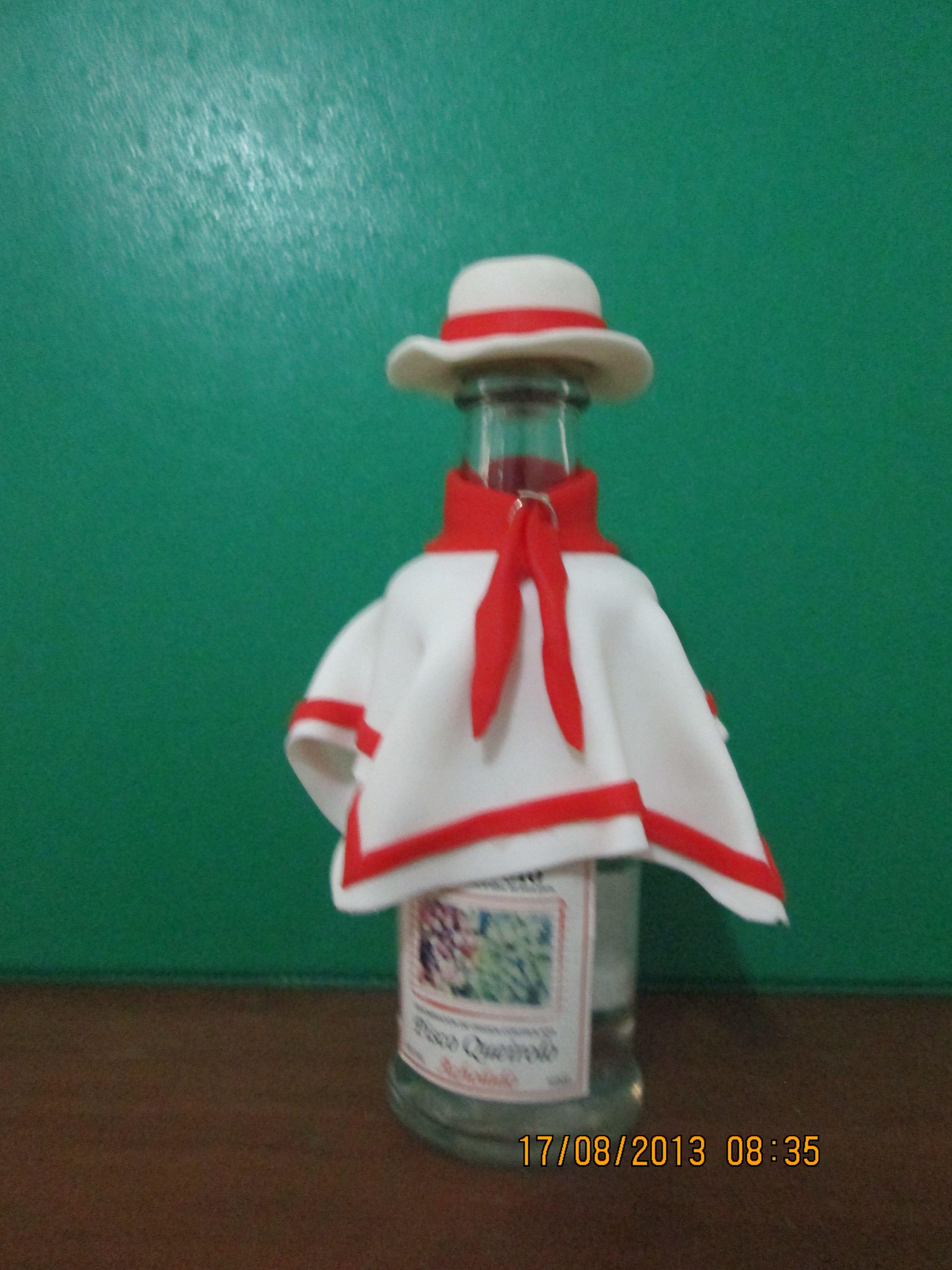 Bottle Chalan design Manualidades Por Fiestas Patrias 6bb955e9938
