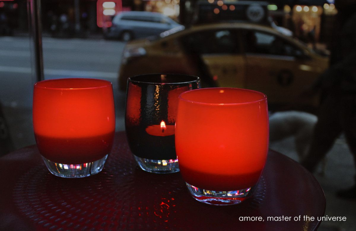 Amore Glass Candle Holders Glassybaby Stemless Wine Glass
