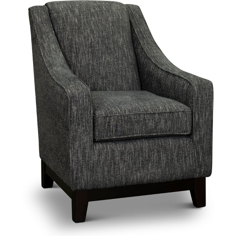 Transitional Smoke Gray Accent Chair Mariko Grey Accent Chair
