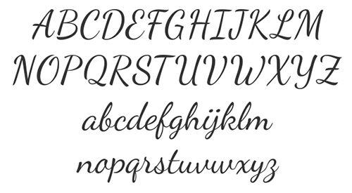 Simple Cursive Fonts