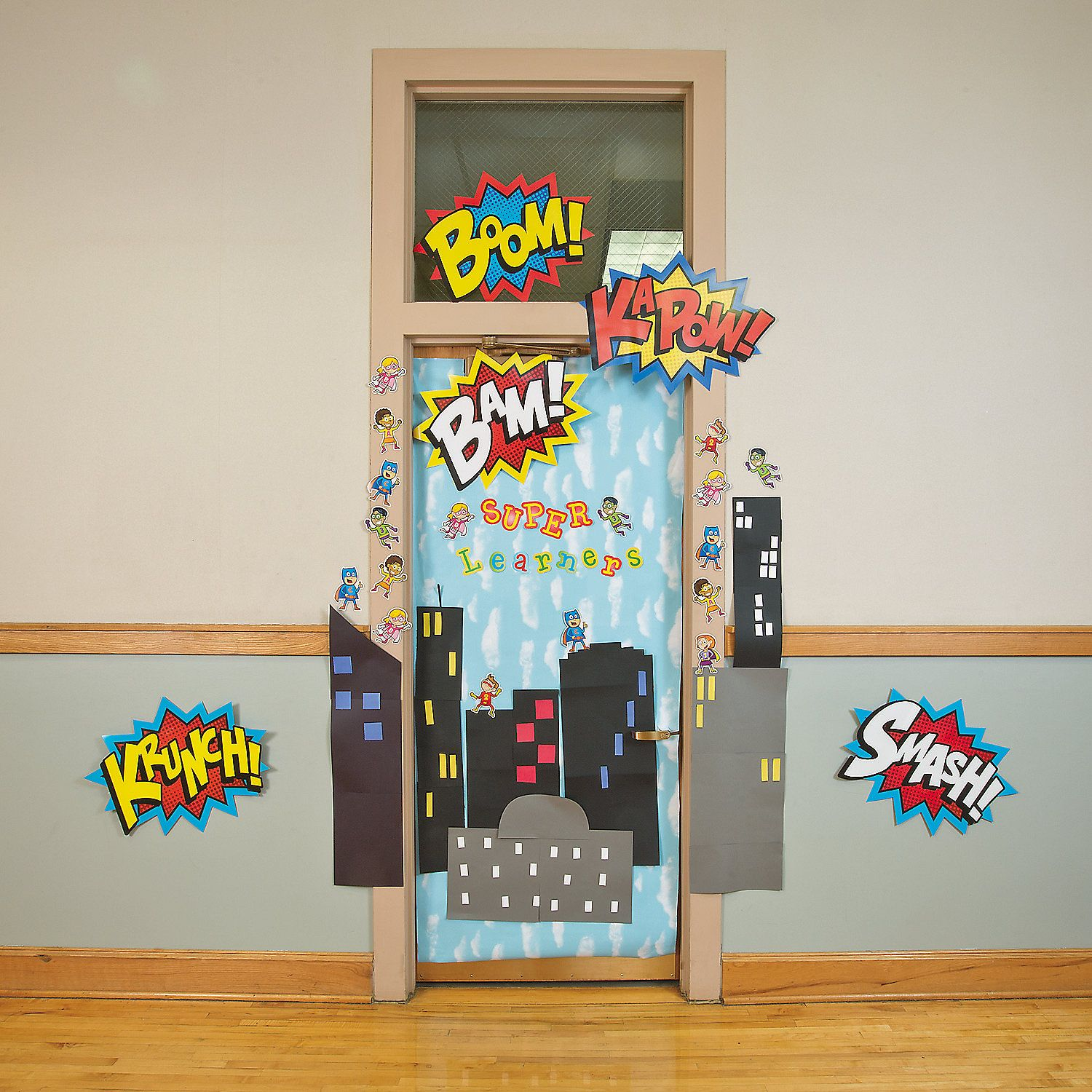 Classroom Ideas Uk ~ Superhero door decoration idea from orientaltrading