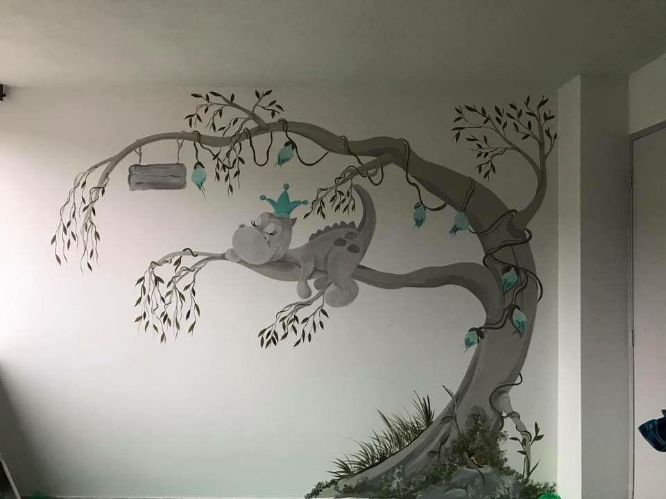 dirkje de draak muurschildering door joan of arts