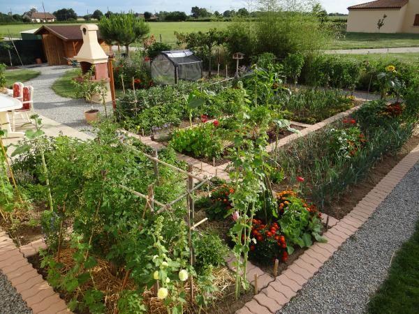 bordures en brique dans le potager jardin potager pinterest gardens. Black Bedroom Furniture Sets. Home Design Ideas