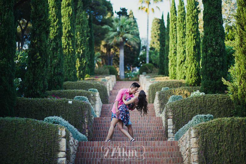 Sesi n de fotos preboda jard n bot nico blanes 274km for Jardin botanico en sevilla