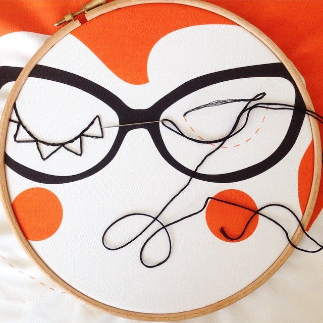 Trying to get some embroidery finished for a custom order but I finally gave up. My kids have half term break so it's full on mommy tasks this week. How to you balance motherhood and business? #embroidery #screenprint #uppercasereader #motherhood #handmade #craft #orange #face #indiebrand