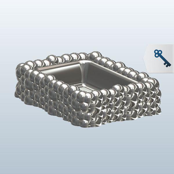 Soap Dish - Bubbles 3D Model Made with 123D 123D Design | 3D