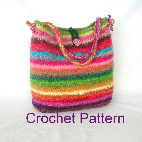 Clearance Sale Easy Crochet Felted Bag Pattern Tutorial pdf, instant ...