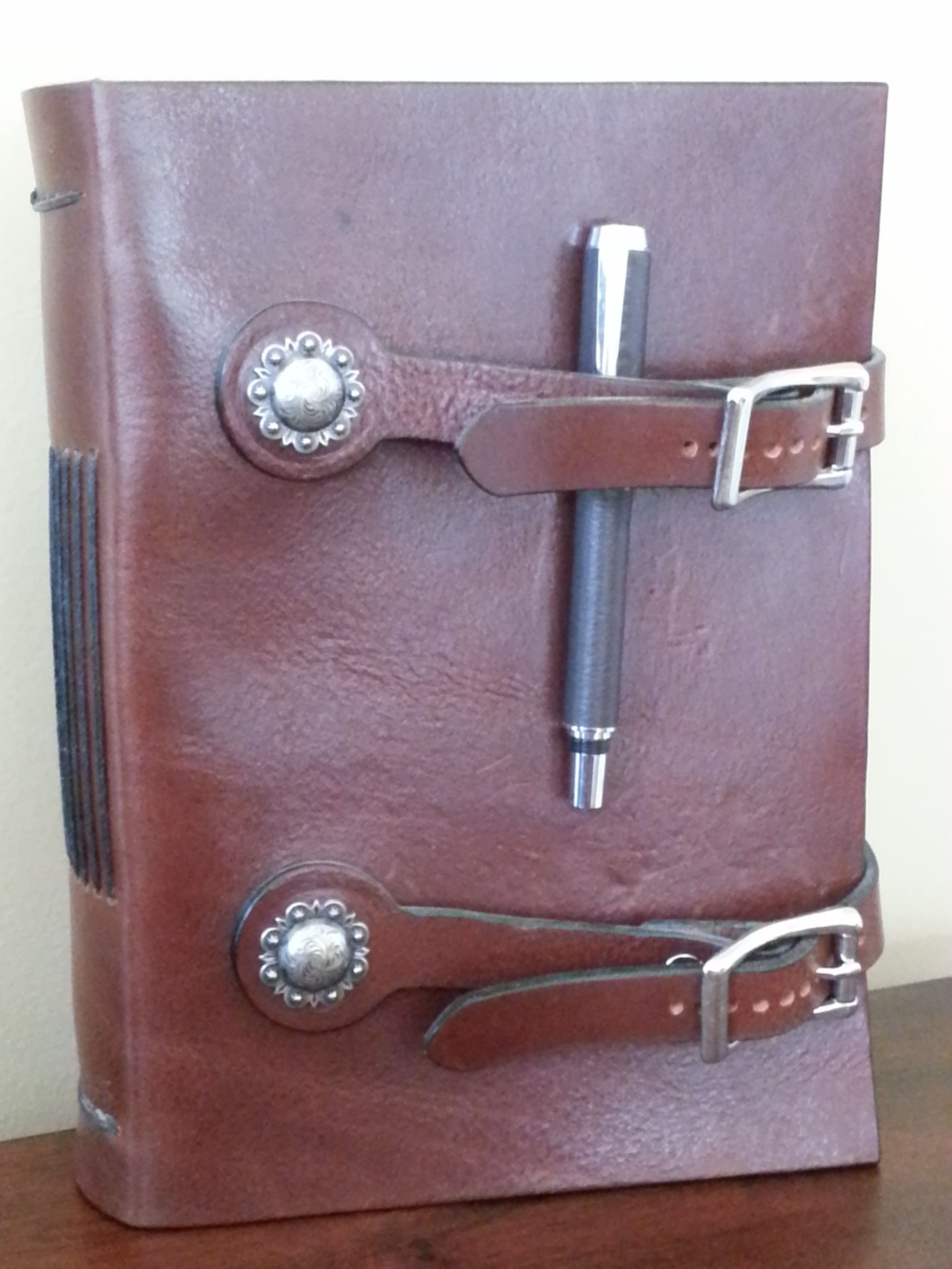 A custom leather journal. A romantic gift idea that is
