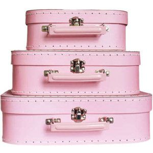 Pink & Pastel Boxes, Baskets, & Luggage - Polyvore