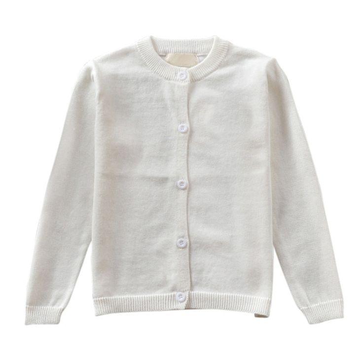 b8d62b7eb3185 Bébé Enfants Vêtements Garçons Filles Bonbons Couleur Tricoté Cardigan Pull  Enfants Été Printemps Automne Hiver Coton