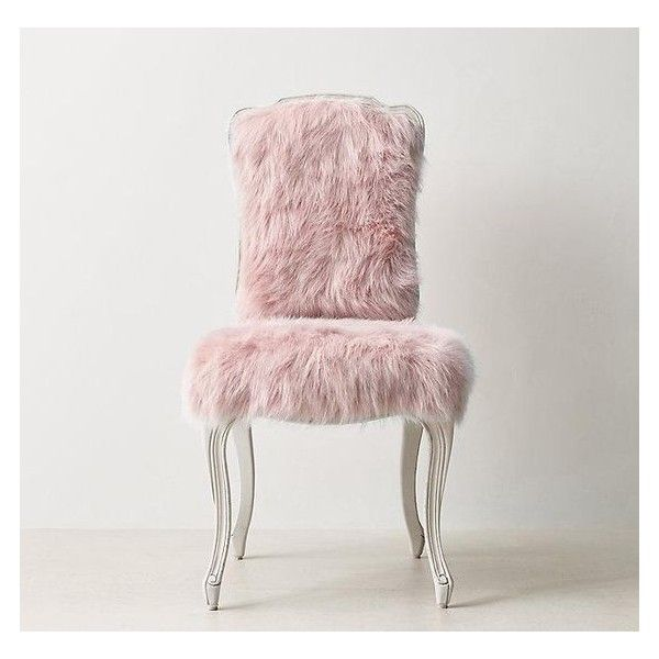 Pink Faux Fur Cabriole Legs Desk Chair ❤ Liked On Polyvore Featuring Home,  Furniture, Chairs, Cabriole Legs Furniture, Pink Chair, Faux Fur Chairs And  Pink ...
