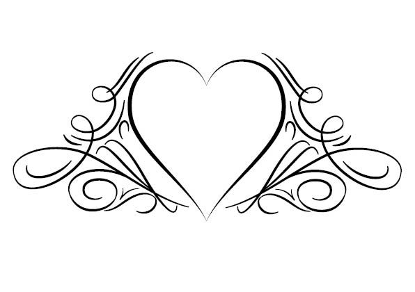 Simple heart tattoos designs tattoo heart design fonts for Heartbeat design