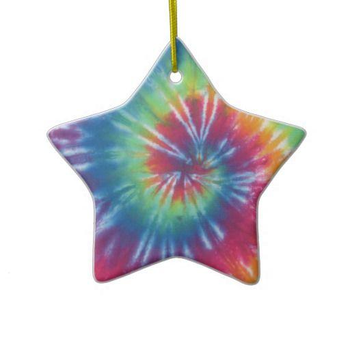 Tie Dye One Christmas Ornament Zazzle Co Uk Diy First