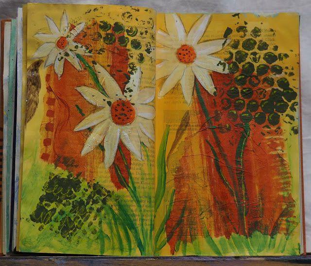 Farbtupfen: Art Journaling gegen Wintergrau