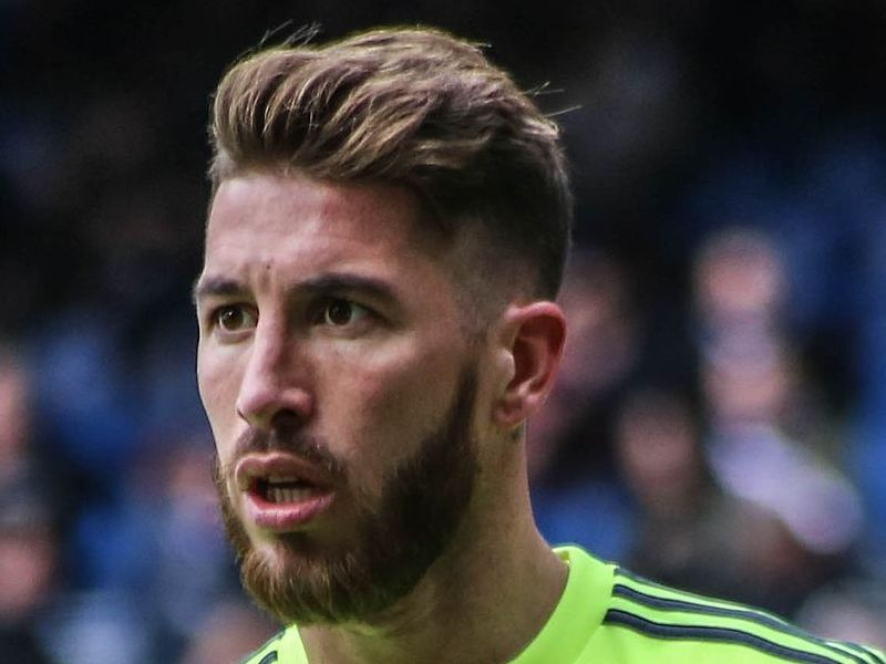 Sergio Ramos Gluckliche Frisur Behaarung Mittellanges Haar