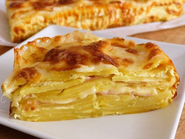Pastel de patatas y queso