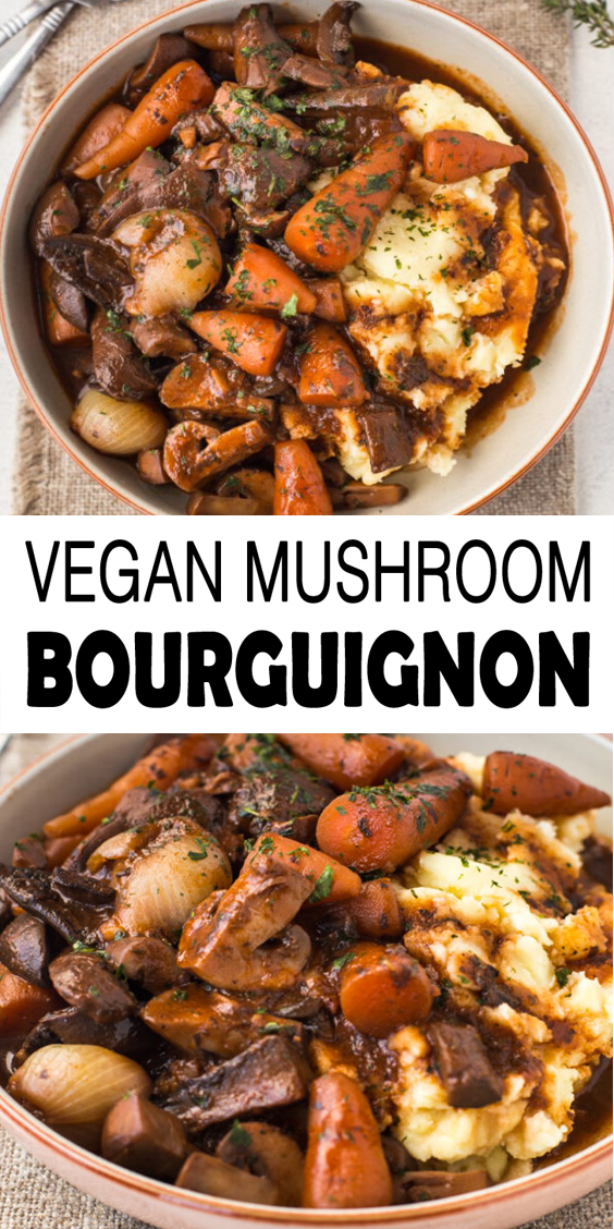 Mushroom Bourguignon Recipe -   - #beefrecipes #bourguignon #cleaneatingrecipes #cookingrecipes #mushroom #recipe #thanksgivingrecipes