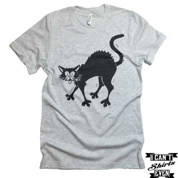 Black Cat T-shirt Halloween Tee Unisex Shirt Unisex and Products - halloween t shirt ideas