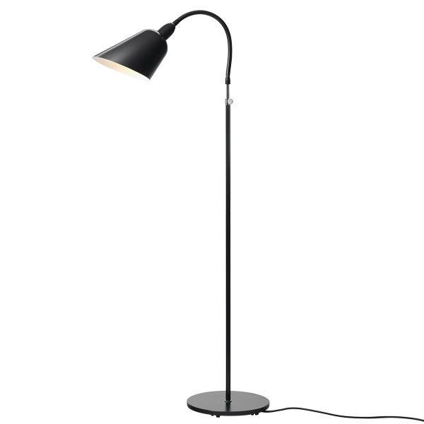 Bellevue Aj2 Lattiavalaisin Musta Jalkalamppu Lamppu Lattiavalaisimet