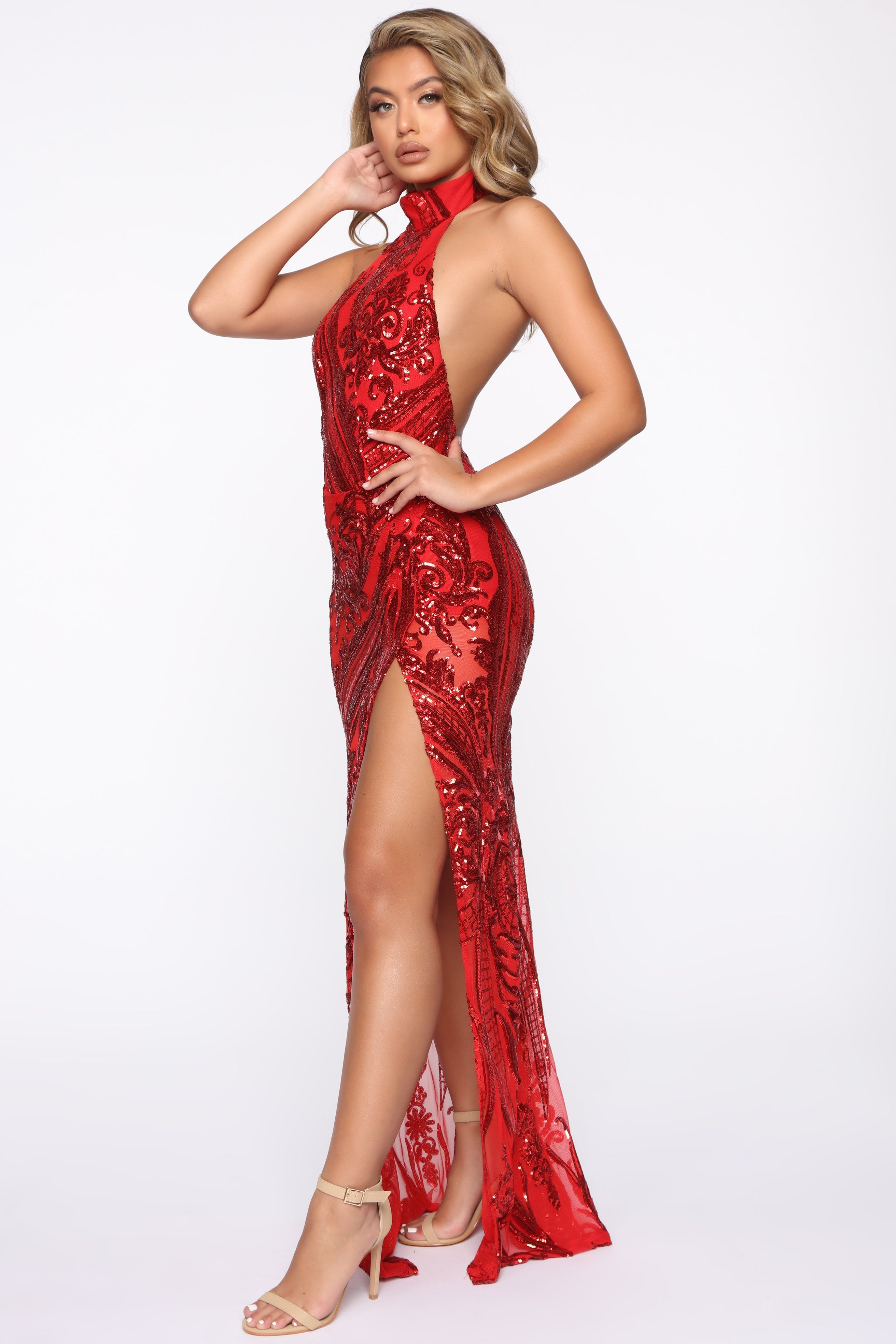 Academy Awards Sequin Gown Red Sequin gown, Gowns