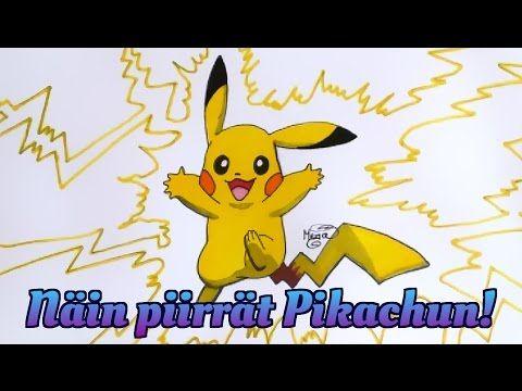 Tutorial | Kuinka piirretään Pikachu | How to Draw Pikachu | Step by Step - YouTube