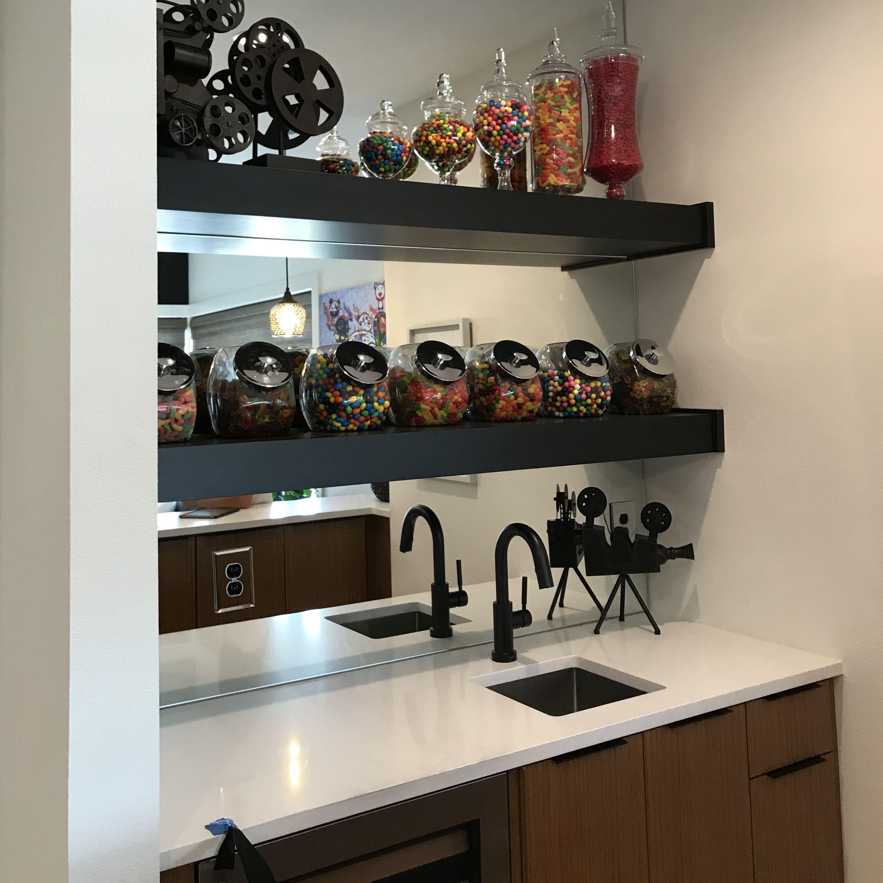 Candy Jars For Shelves In Media Center Bar In 2020 Liquor