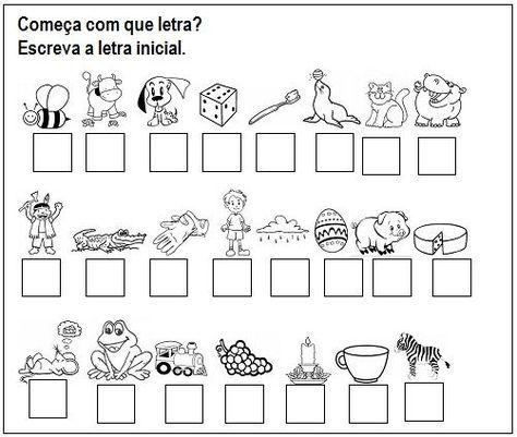 Educacao Infantil Atividades Para Imprimir Com O Alfabeto