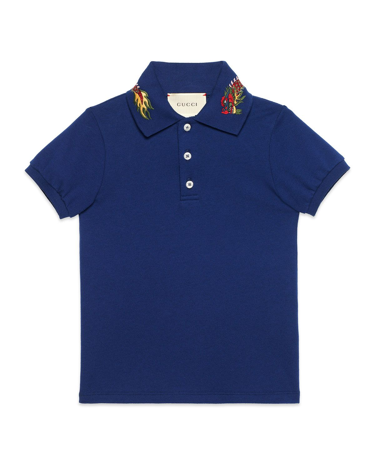 7f163f79 Short-Sleeve Dragon Polo Size 4-12 | Gucci gang | Gucci kids, Gucci ...