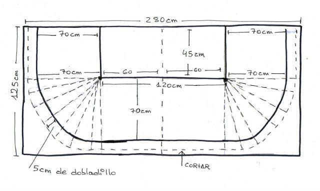 Cómo Hacer Una Falda Para Mesa Camilla Rectangular Bricolaje10 Com Mesa De Cama Mesa Camilla Rectangular Faldas De Camas