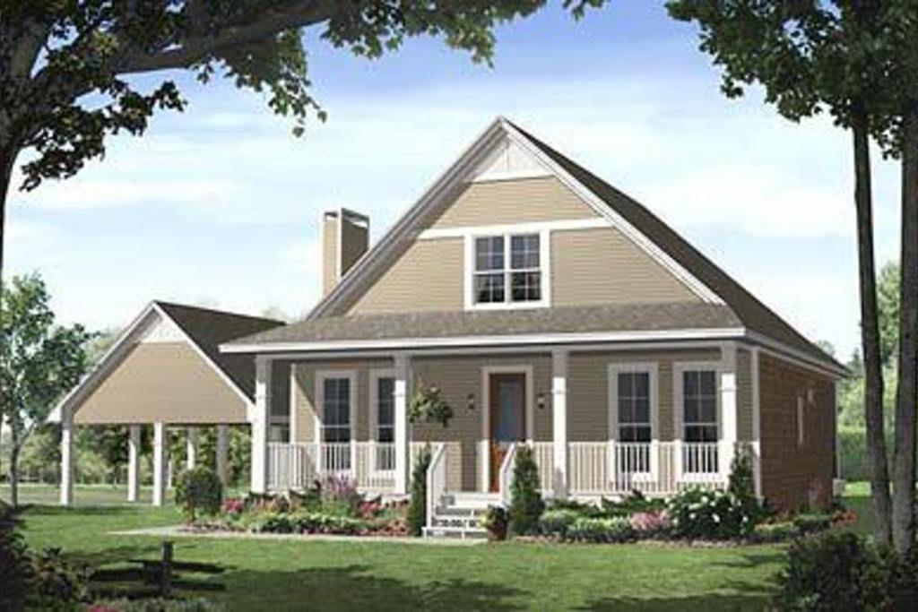 Farmhouse 3 Beds 2.5 Baths 1900 Sq/Ft Plan #21-227 Front Elevation - Houseplans.com