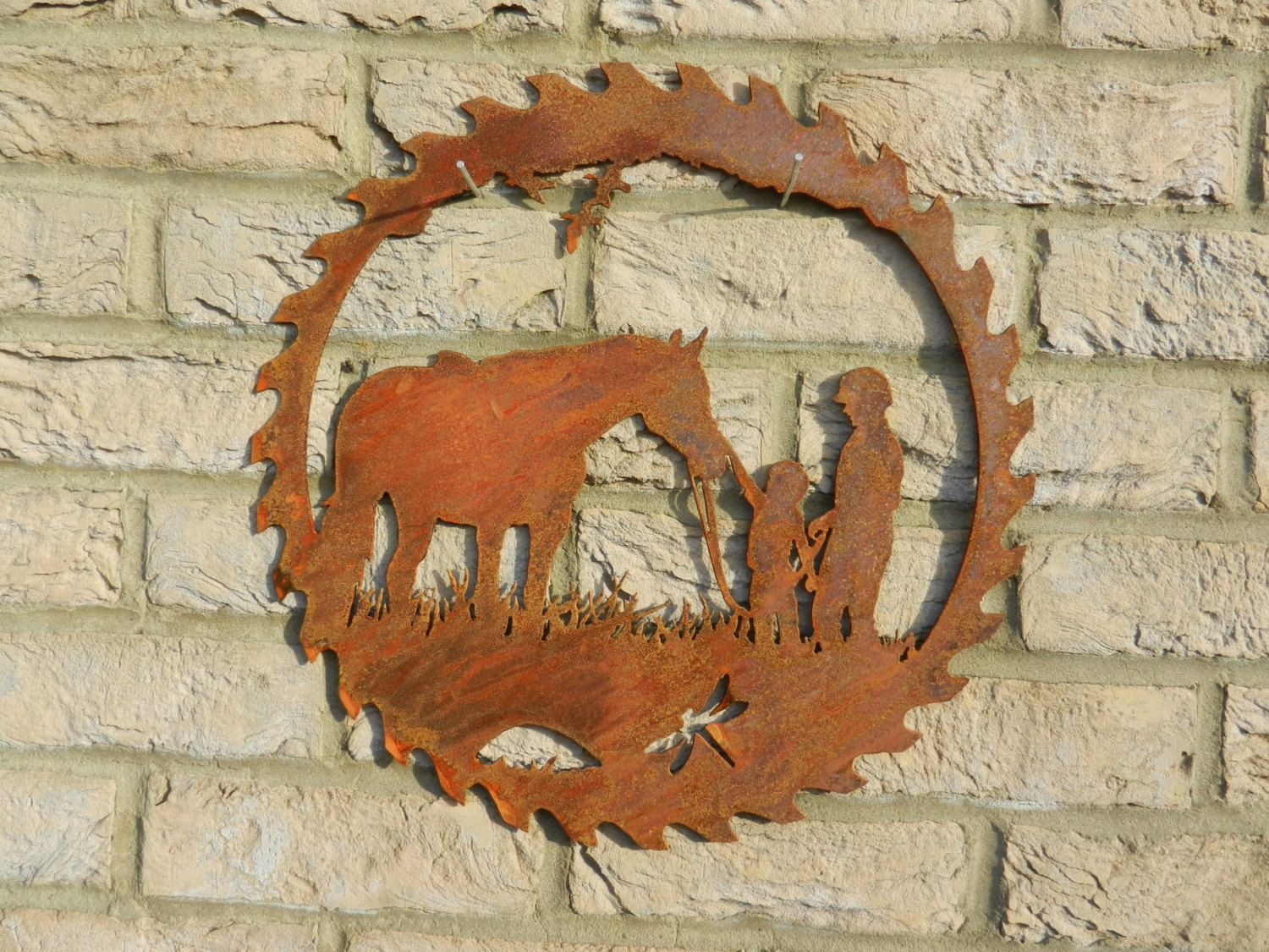 Horse Circular Saw Blade Art / Rusty Metal Art / Garden Decoration / Horse  Gift / Horse Rider / Horse Wall Decor / Equine Art / Jockey Gift