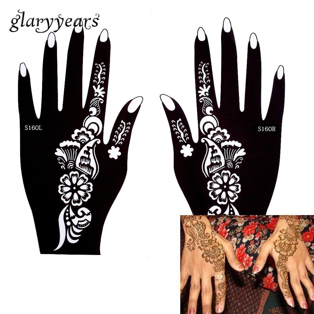 Glaryyears  Designs  Pair Indian Mehndi Left Right Hands Henna