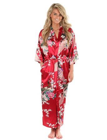 974f0a7f586a6 Hot Sale Blue Female Silk Rayon Robes Gown Kimono Yukata Chinese ...