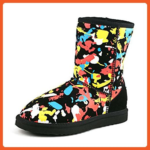 Women's Fashion Midcalf Water Resistant Leather Boot 95325