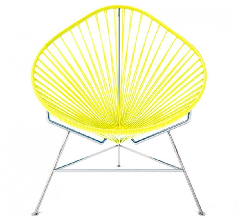 Furniture : Acapulco Yellow Chair Innit Chair Slightly Reclined Pear Shaped  Frame Stunning With Fetching Yellow