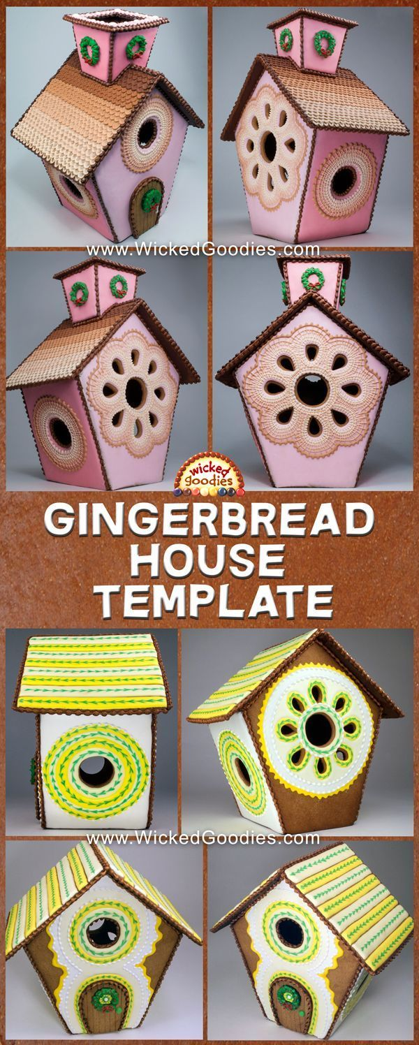 FREE Gingerbread House Template #gingerbreadhousetemplate Free printable gingerbread cookie house paper template with windows, door and chimney for holiday baking or birdhouse design #gingerbreadhousetemplate FREE Gingerbread House Template #gingerbreadhousetemplate Free printable gingerbread cookie house paper template with windows, door and chimney for holiday baking or birdhouse design #gingerbreadhousetemplate