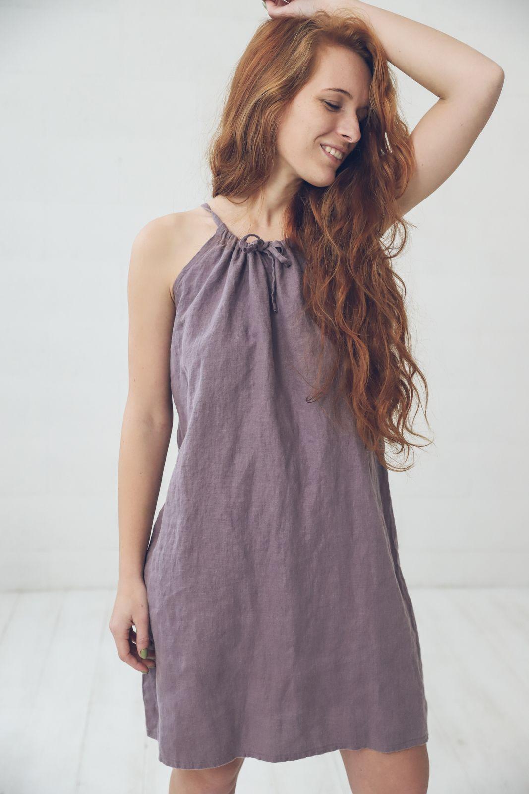 Linen Summer Dress In Violet Ash Linen Slip Dress Etsy Linen Slip Dress Summer Linen Dresses Summer Dresses [ 1600 x 1067 Pixel ]