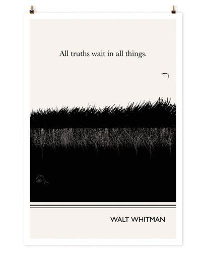 """GRASS"" Art Print, Whitman Quote by Evan Robertson on The Bazaar"