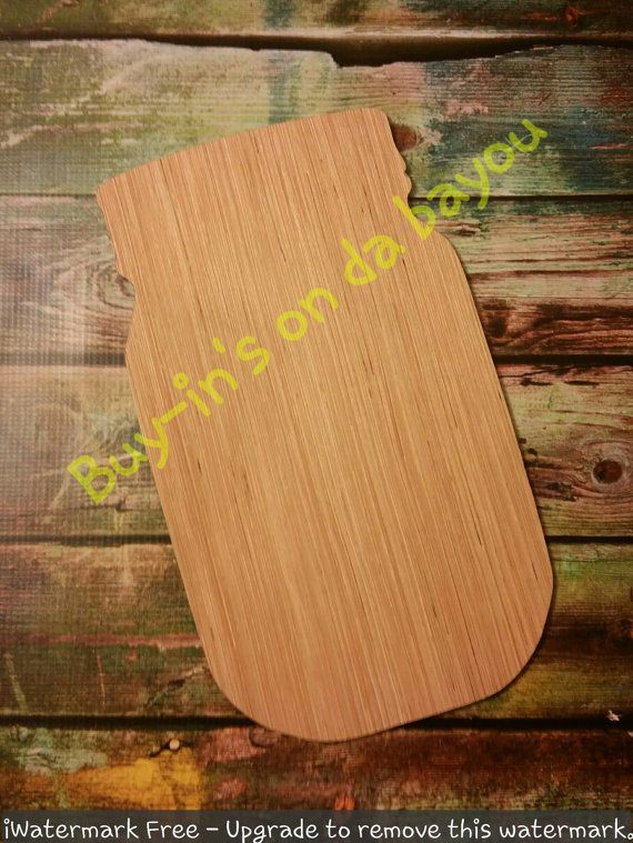 Mason Jar Wooden Cutout Unfinished Wooden Blanks Wooden Shapes
