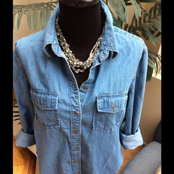 05459fe51a94a Banana Republic denim top