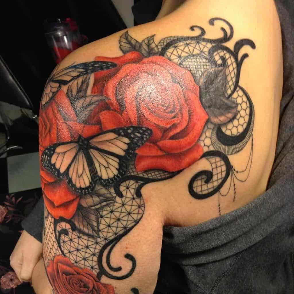 Photo of Top 103 Best Lace Tattoos [2021 Inspiration Guide]