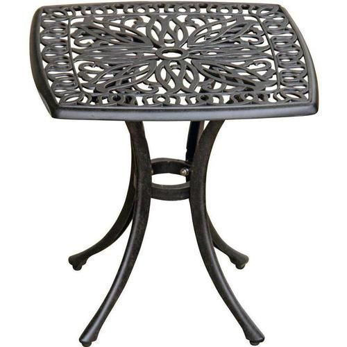 Seaside Cast Aluminum Square Patio End Table