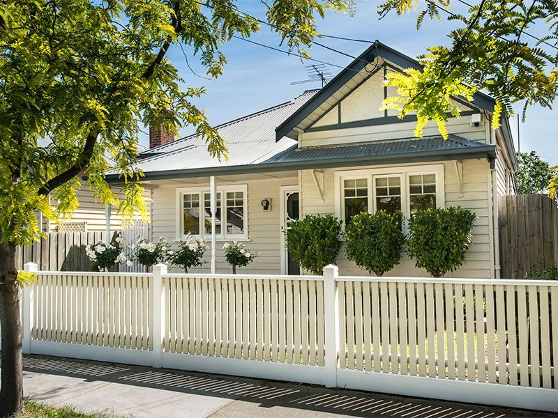 Best Weatherboard Cottage With Stone Coloured Boards White 400 x 300
