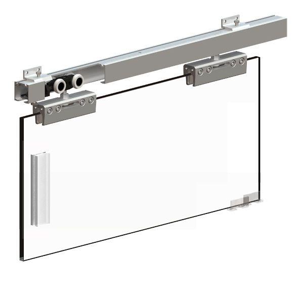 Hercules Glass Sliding Door Gear Set For Sliding Glass Doors 2000m Track 100kg Sliding Glass Door Sliding Doors Door Handle Sets