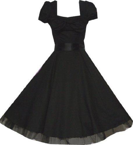 Pretty Kitty Fashion 50s Schwarz Cocktail Kleid S Pretty Kitty, http ...