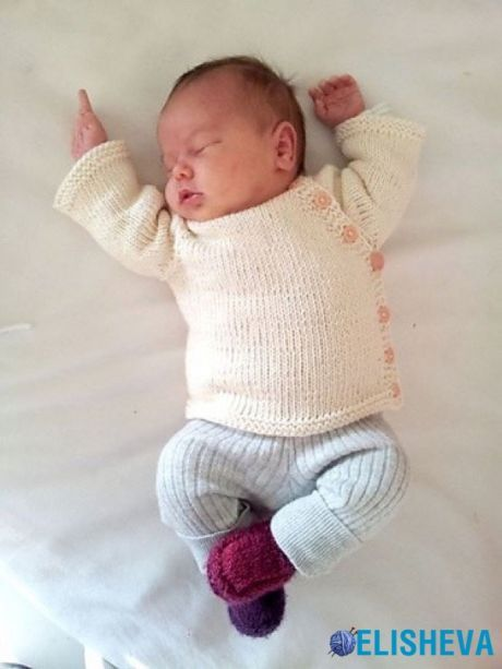Cardigan for the newborn from PEKAPEKA design studio, knitted spokes